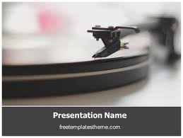 free playing vinyl powerpoint template freetemplatestheme com