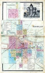 Map Of Findlay Ohio by Findlay Ohio 1875 Genealogy U0026 Local History 2015