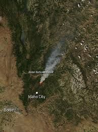 Wildfire Map National by Pioneer Fire In Idaho Nasa
