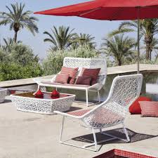 Modern Outdoor Furniture Ideas Decorating Rattan Chair With Lowes Patio Cushions Plus Foot Rest