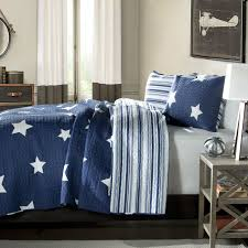 Queen Quilted Coverlet Queen Navy Star And Stripes At Night Quilt Coverlet Bedspread Set
