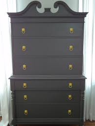 Gray Furniture Paint Richmond Thrifter Turning This Highboy Into A Man