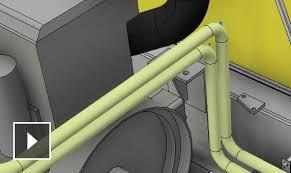 pipe design inventor mechanical design 3d cad software kanisco