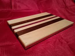 Maple Cutting Boards Hand Crafted Maple Walnut And Purple Heart Cutting Board By The