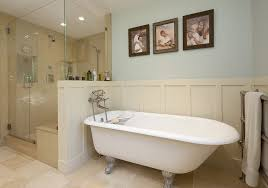 Bathrooms With Wainscoting Wainscoting Around Tub Bathroom Contemporary With Glass Shower