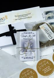 forget me not seed packets diy classic memorial forget me not seed packet package with