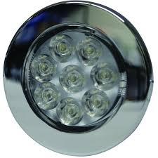 led dome light chrome bezel 12v dc 7 leds non switched
