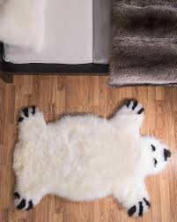Bear Rug For Kids by White Sheep Skin Rug Rug Designs