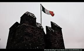 Flag Of Ireland Irish Flag Flying Atop Bunratty Castle