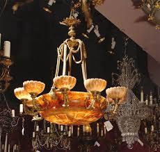 Maurice Chandelier Antique Alabaster Chandelier For Sale At 1stdibs