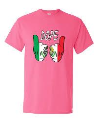 Mexican Flag Cartoon Cartoon Hands Dope Mexican Flag Pattern T Shirt Mexican Flags