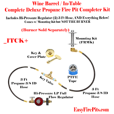 Fire Pit Kits by Itck Kit Universal Deluxe In Table Diy Do It Yourself Propane
