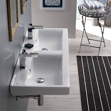 Rectangular Drop In Bathroom Sink by Cerastyle 064700 U By Nameek U0027s Mona Rectangular Double White