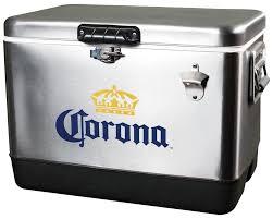 Corona Light Cans Koolatron 54 Qt Corona Stainless Steel Ice Chest Cooler U0026 Reviews