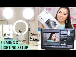 camera and lighting for youtube videos my filming lighting setup for beauty videos canon eos 70d camera