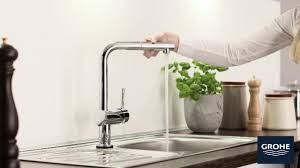 grohe minta top k main pullout kitchen faucet in starlight chrome