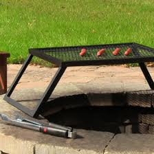 Fire Pit Grill Insert by Fire Pit Grates Adjustable Campfire Cooking Racks Round U0026 Square