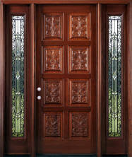 Carved Exterior Doors Interior Doors Interior Wood Doors Mahogany Knotty Alder Maple