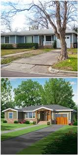 Garage Door Curb Appeal - a boring ranch gets craftsman update best house designs images on
