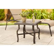 Tiny Accent Table by Outdoor Side Tables Patio Tables The Home Depot