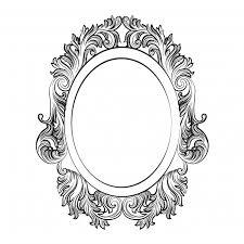 oval ornamental frame vector free
