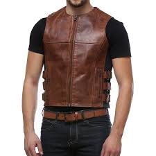buy biker jacket buy tan tactical biker vest by bareskin online in india