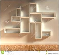 mid century modern shelf liner modern shelvesisolated on white