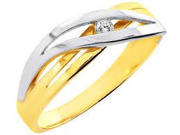 apart pierscionki pierścionek z żółtego i białego złota z brylantem wzór 100 397