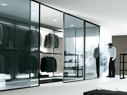 closet glass door closet contemporary bedroom design glass door walk in closet
