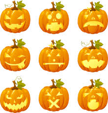 halloween pumpkin head vector emoticons free vector 4vector