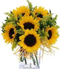 Sunflower Wedding Centerpieces by Sunflower Arrangement Dad The Sunflowers I Planted In