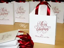 ribbon with names 30 christmas gift bags gift bag with burgundy satin ribbon