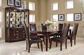 novel solid wood dining table and white chairs for dining room