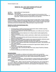Maintenance Job Description Resume Exciting Billing Specialist Resume That Brings The Job To You