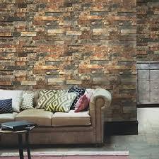 peel and stick wallpaper faux brick peel stick wallpaper rusty dark grey stacked stone