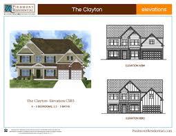 Clayton Floor Plans by Clayton Piedmont Residential Home Builder In Canton Ga