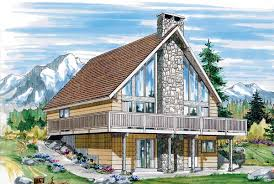 A Frame House Plans With Basement House Plan 55380 At Familyhomeplans Com