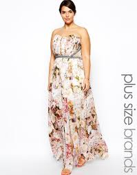 little mistress floral print maxi dress with embellished waist