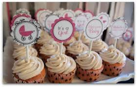 cupcakes for baby shower girl girl baby shower ideas using toile pretty pinks black and white