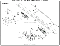 homelite ry43160 electric pole saw parts diagrams