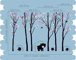 Tree Decals For Walls Nursery by Black Tree Blossom Animals Wall Stickers Vinyl Decal Nursery Baby