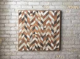 reclaimed wood wall table wood wall art lath pattern chevron
