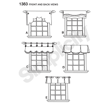 simplicity home decor pattern for valances for 36