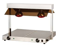 empire twin lamp electric buffet warmer with hotplate tc 2f