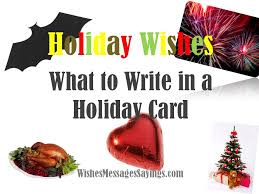 holiday card messages wishes messages sayings