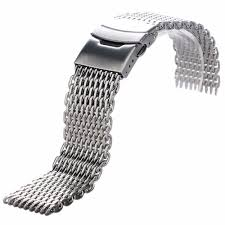 bracelet clasp replacement images 18 20 22 24mm replacement stainless steel mesh watch band bracelet JPG