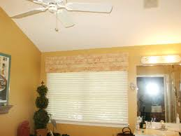Mock Roman Shade Valance - bathrooms smashing windows