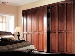 Wall Wardrobe Design by Vintage Bedroom With Brown Teak Wardrobe Design And Bedside Table
