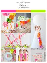 neon wedding inspiration board color palette mood board color