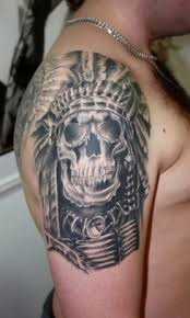 tattoos indian skull arm ideas design